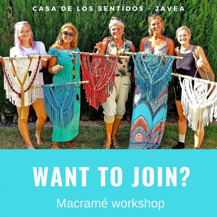 Macramé Wall Hanging workshop @ Casa de los Sentidos in Javea