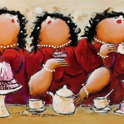 Dikke Dames Paintings by Theo Broeren @ Casa de los Sentidos - Javea - Spain - 3 op een Rij
