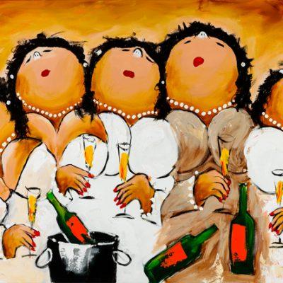 Dikke Dames Paintings by Theo Broeren @ Casa de los Sentidos - Javea - Spain - Altijd wat te vieren