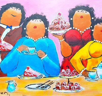 Dikke Dames Paintings by Theo Broeren @ Casa de los Sentidos - Javea - Spain - Hapjes - Original