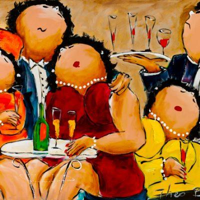 Dikke Dames Paintings by Theo Broeren @ Casa de los Sentidos - Javea - Spain - Onderonsje