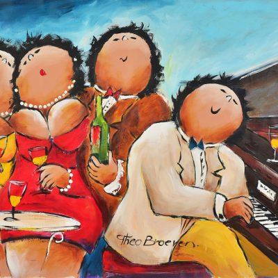 Dikke Dames Paintings by Theo Broeren @ Casa de los Sentidos - Javea - Spain - Piano spelen