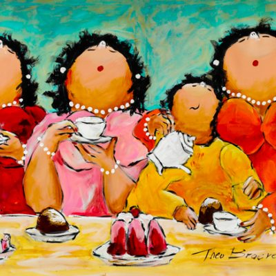 Dikke Dames Paintings by Theo Broeren @ Casa de los Sentidos - Javea - Spain - Theeleutjes met Kind